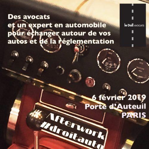 afterwork droit du véhciule de collection 2019